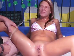 Spicy amateur is getting piss in her face porn video