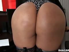 Cielo the busty Latina gets rammed on a table in POV video porn video