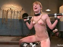 Kinky Claire Robbins gets bounded and fucked in her ass porn video