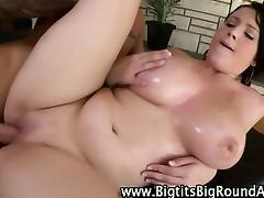 Curvy busty slut fucked hard