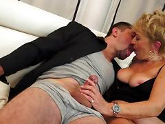 Granny love to fuck with guys in suits porn video