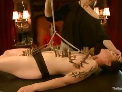 Krysta Kaos gets tied up and tormented by Maestro Stefanos
