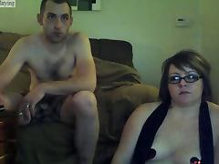 Cramming my hubby on a webcam show