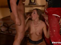 Evelina Marvellou Horny MILF Having Fun in Double Penetration Threesome