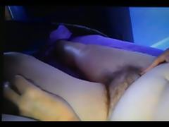 enjoying rubbing wifes hairy pussy,she pulls my cock