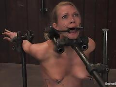 choked and made to ride a sybian porn video