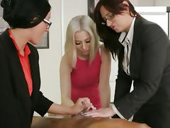 Mistress, Femdom, Group, Handjob, Mature, Mistress