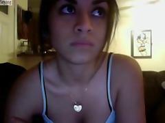 Hot Latina teen teases on a webcam