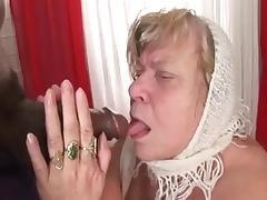 Big Tit BBW Granny Takes Dark Meat