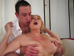 Old and Young, Blonde, Facial, Granny, Hardcore, HD