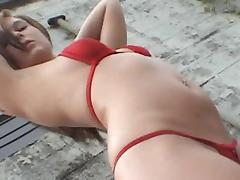 Shaved Pussy, Bikini, Outdoor, Shaved Pussy, Long Hair