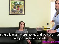 FemaleAgent: Anal creampie for cute Romanian