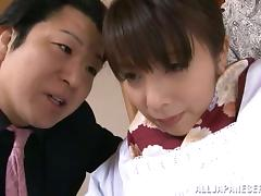 Kimika Ichijou Horny Japanese MILF Sucks and Titty Fucks in MMF Threesome