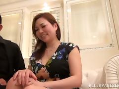 Chubby and Busty Asian Wife Fingered Before Blowjob and Sex