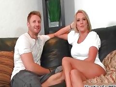 Mom and Boy, 18 19 Teens, Blonde, Couple, Mature, MILF