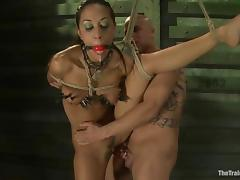 Stunning Lyla Storm rides a cock and gets toyed in bondage vid porn video