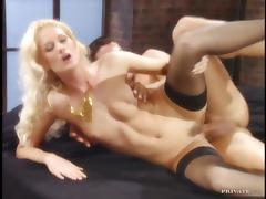 Hardcore Pounding for Blonde in Stockings Claudia Ricci's Pink Pussy