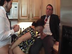 Milf Taking on Two Guys porn video