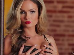 Gorgeous Prinzzess masturbates and licks her fingers