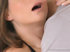 Mom xxx: Sexy brunette MILF loves his huge cock