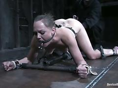 Hot chick shows her love for pain, obedience and bondage porn video