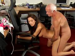 Old and Young, Adorable, Big Cock, Blowjob, Brunette, Glamour