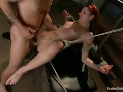 Sweet Evilyn Fierce gets bounded and fucked rough porn video