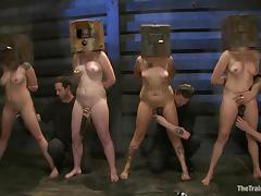 Four amazing chicks are going through sadism