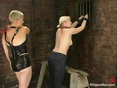 Lorelei Lee gets tormented and fucked by short-haired lesbian Trixie