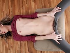 Posing, Brunette, Masturbation, Posing, Skinny, Small Tits