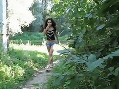 Ethnic teen girl hardcore fucking outdoor