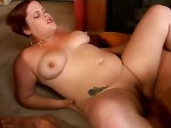 Fat Chubby GF with red hair sucking and riding cock- P2 porn video