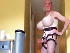20130313 pink satin garter