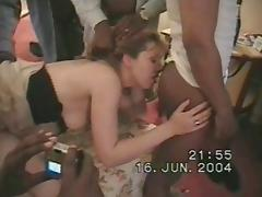 Salope a black (black cock slut) dirty talk + ass licking