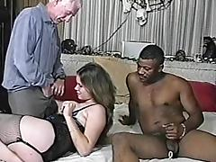 Curvy fair-haired enjoys interracial MMF banging less homemade pic