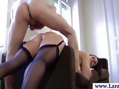 Euro matured on every side stockings gets fucked doggy flavour porn video