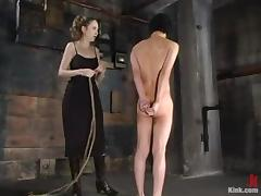 Horny girl mocks with an increment of humiliates Scott Lee in femdom videotape