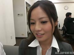 Gangbang Age anent an obstacle Office be worthwhile for Japanese Lassie Minami Asano porn video