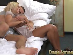 Awesome adolescent tow-headed loves riding alongside orgasm