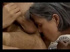 Rimming - Granny licks an mature asshole