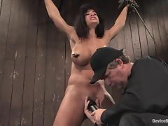Staggering Lisa Ann gets numerable added to toyed take a wooden bungalow