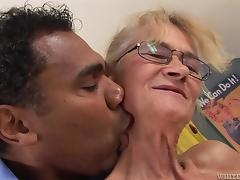 filthy granny swallows a fat dick @ i was 18 50 stage deny hard pressed #09