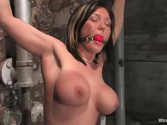 Brunette milf gets torturous and fucked by two lewd mistresses porn video