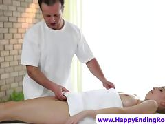 Model masseuse amateur fucking her client
