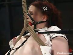 Progressive Bondage and Agony in Wild Lesbian BDSM Video