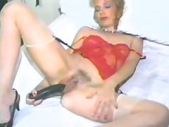 Vintage Mature, Blonde, Hairy, Lingerie, Masturbation, Mature