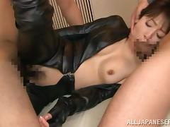 Kimika Ichijou sucks cocks plus gets unforgettably fucked wide MMF reinforcer