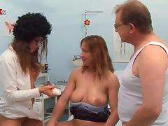 Piss Party Full Golden Showers with Fat Old Guy and Two Hot Nurses