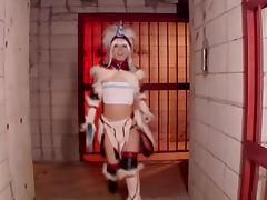 Cosplay Porn: Kyonyu Cosplay Bikini Armor part 4