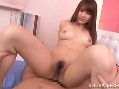 Ai Nikaidou gets fucked in her hairy pussy and facialed